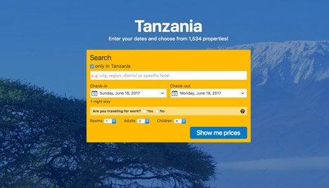 Book hotel Arusha Region Tanzania