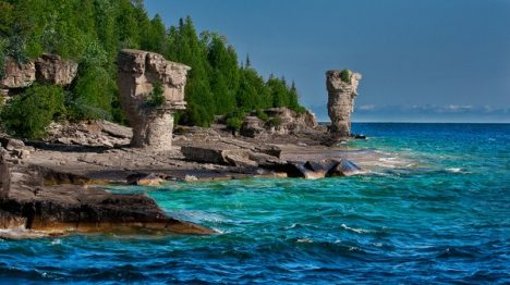 Canada. Flowerpot Island - in Georgian Bay (Ontario). Part of Fathom Five National Marine Park.