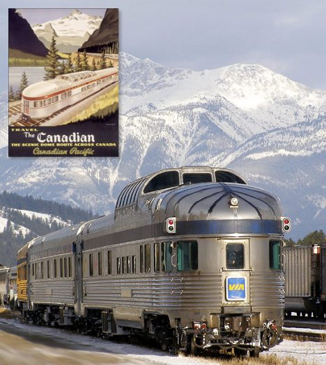 Canadian Stereotype Tourist Photos The Canadian; a train between Vancouver and Toronto, running 3 times per week.