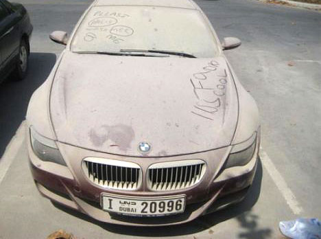 Dubais abandoned cars: BMW