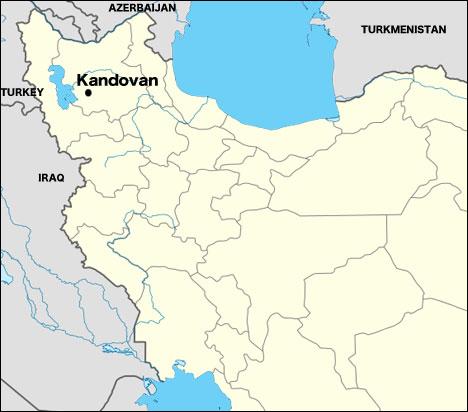 Kandovan map