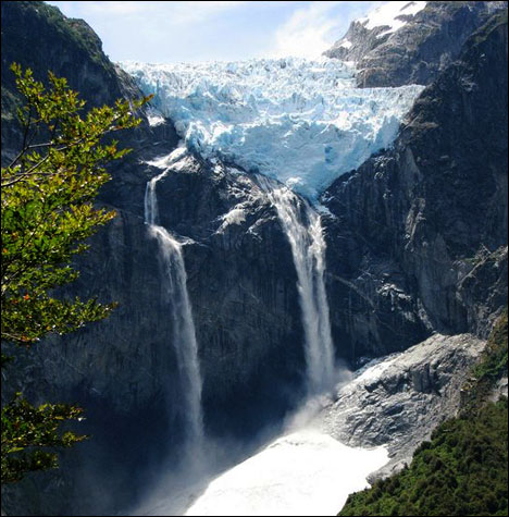 Top 10 Impressive Waterfalls Ventisquero Colgante Falls in Chile