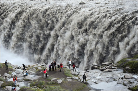 Top 10 Impressive Waterfalls dettifoss in Iceland.
