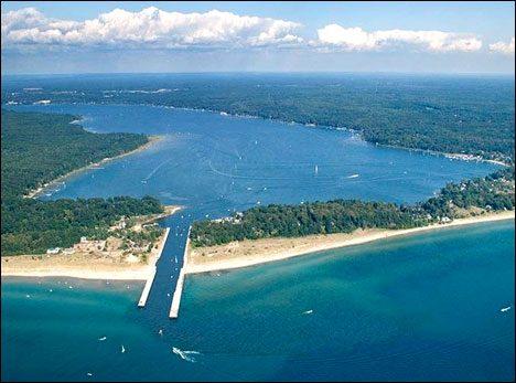 Grand Rapids - Beer and Beaches. White Lake at Lake Michigan