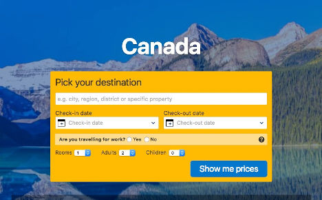 Canada pick a destination here