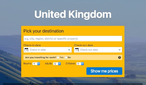 United Kingdom pick a destination here