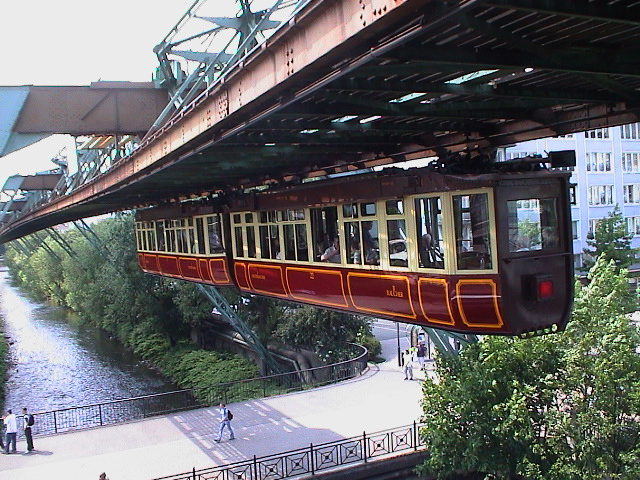 Wuppertal suspension monorail. Kaiserwagen