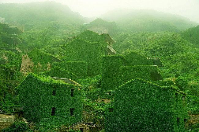 abandoned Houtouwan village