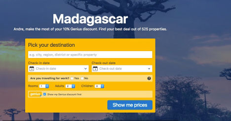 Book accommodation in Madagascar