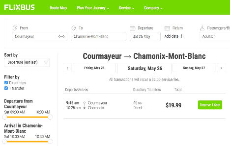 Mont Blanc Ponte Helbronner Flexibus Chamonix Courmayeur