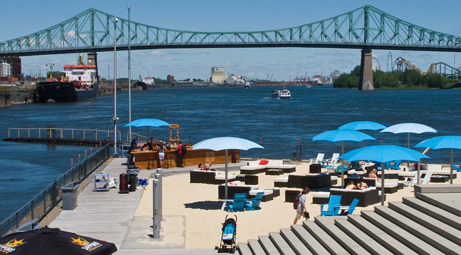 urban beaches place de lhorloge montreal