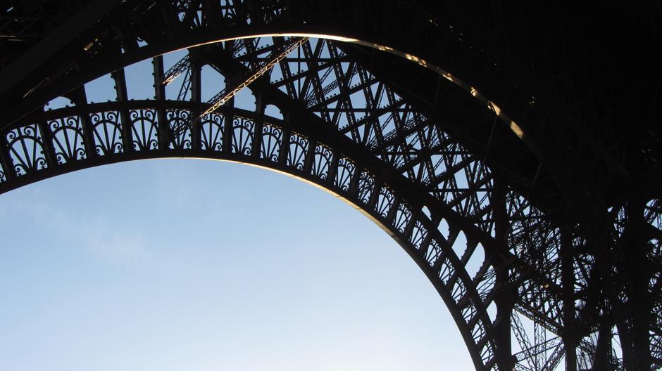 Eiffel Tower Fancy Glass Floor