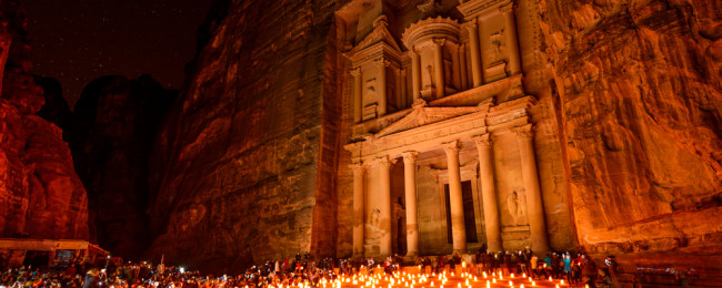 Jordan back on Tourist Map petra jordan night
