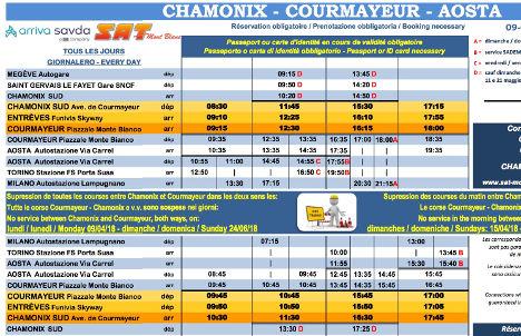 Mont Blanc Ponte Helbronner savda bus chamonix courmayeur