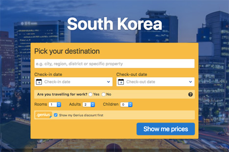 south korea booking com