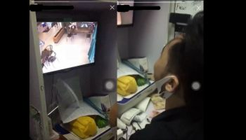 Sleazy Starbucks Indonesia employees caught ogling female customerE28099s cleavage through CCTV 1