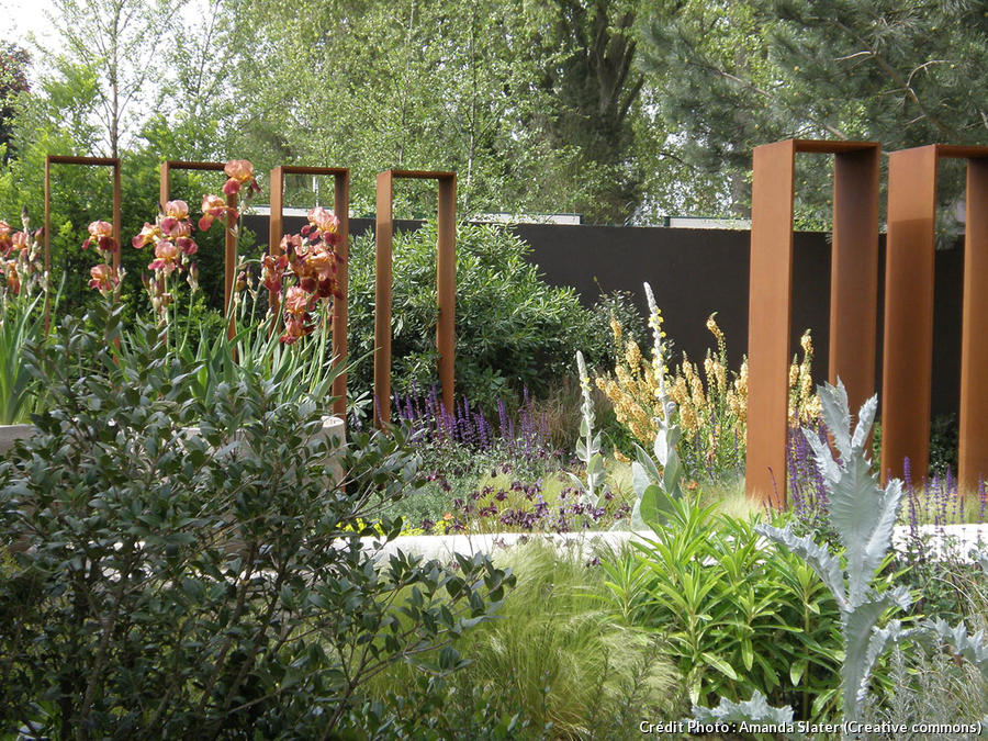 l acier corten au jardin