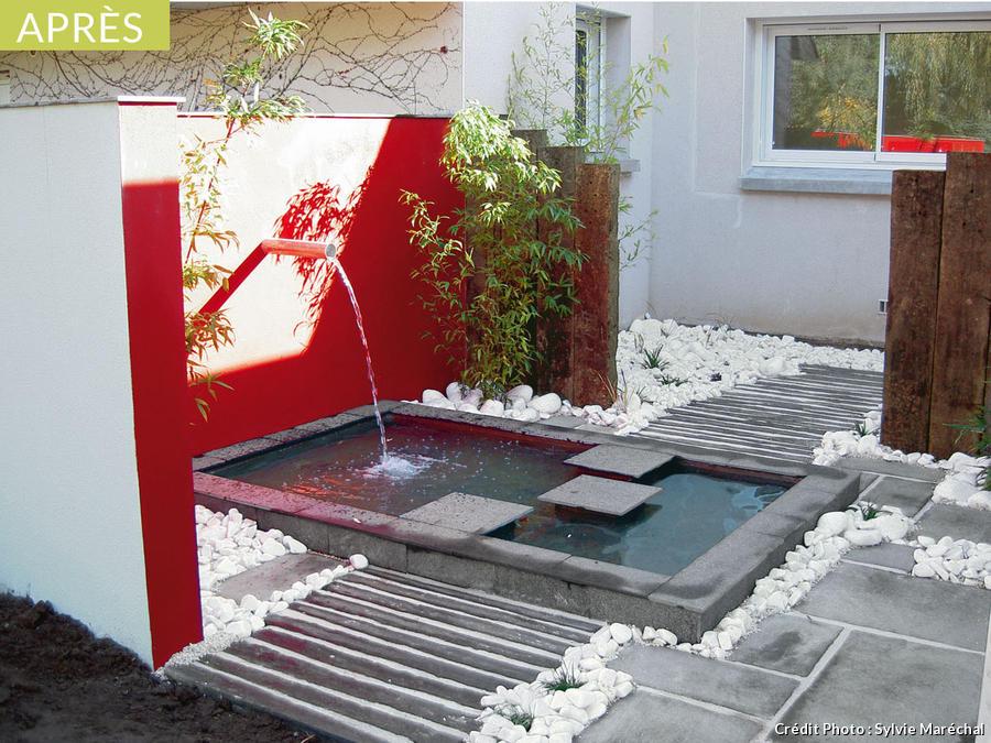 amenagement jardin zen avec bassin
