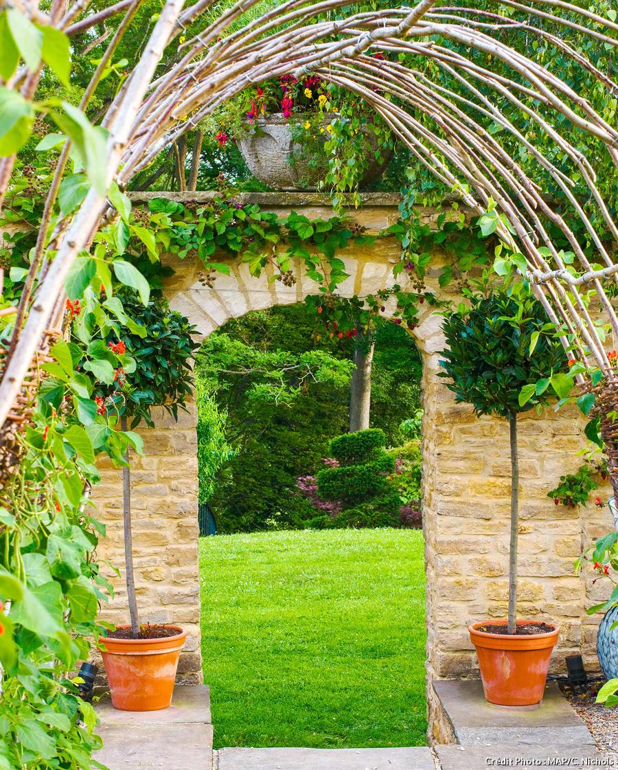 arche de jardin portique supports