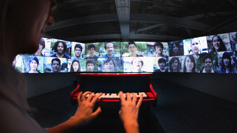 On a Human Scale: installation at Tribeca Film Festival