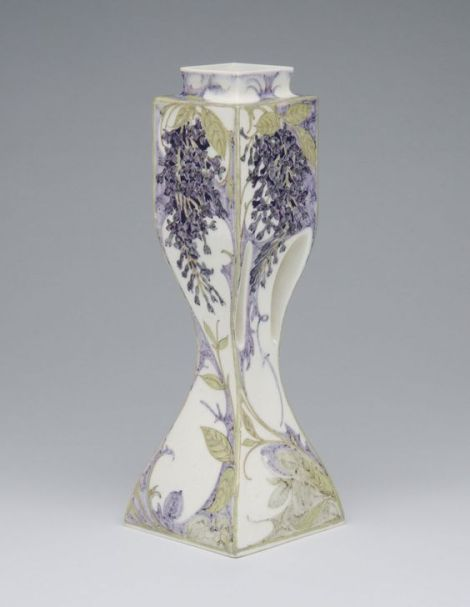 Vase  Designed by J. Juriaan Kok, Dutch, 1861 - 1919. Decorated by Samuel Schellink, Dutch, 1876 - 1958. Made by Rozenburg porcelain factory, The Hague, Netherlands, 1885 - 1917.  Geography: Made in Netherlands, Europe Date: c. 1910 Medium: Porcelain with enamel decoration