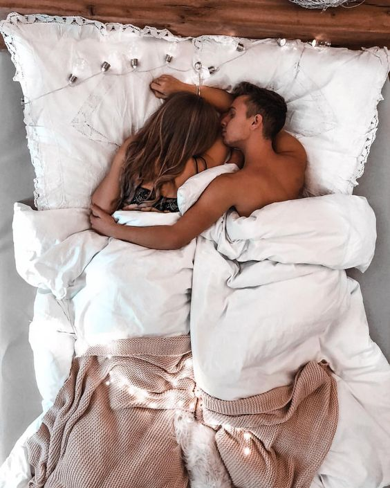 Both in bed all day😍 that's what the weekend is for,