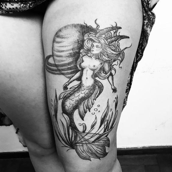 Cool Capricorn tattoo