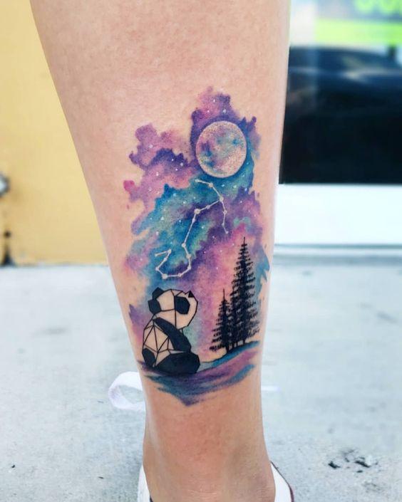 The star-gazing panda tattoo- 27 Low-key Gorgeous Scorpio Tattoos