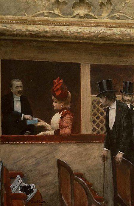 La Loge au Theatre by Jean Beraud (French 1849-1935)