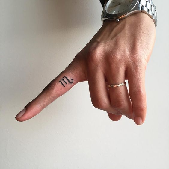 - 27 Low-key Gorgeous Scorpio TattoosA symbolic finger tattoo