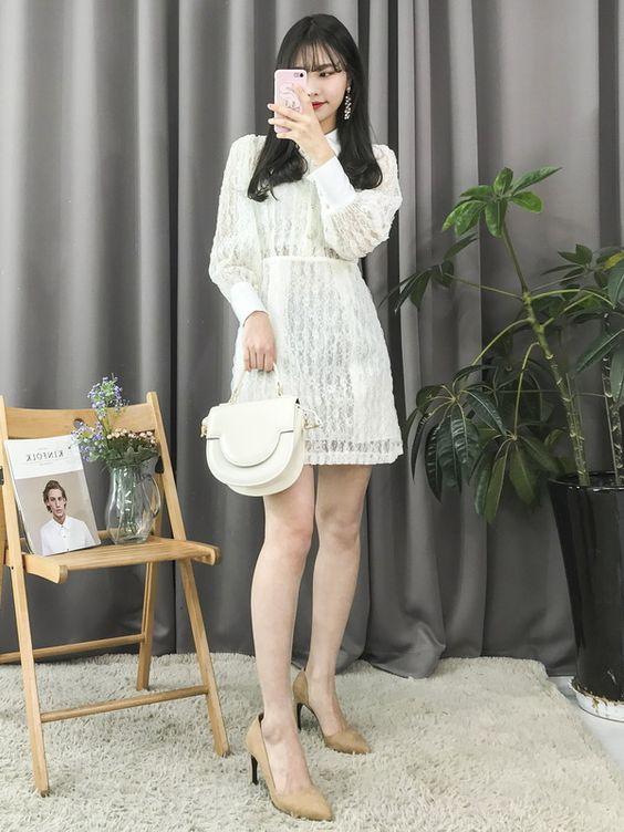 ☁️Korean Fashion|White Rose☁️ ☁️@oliwiasierotnik☁️