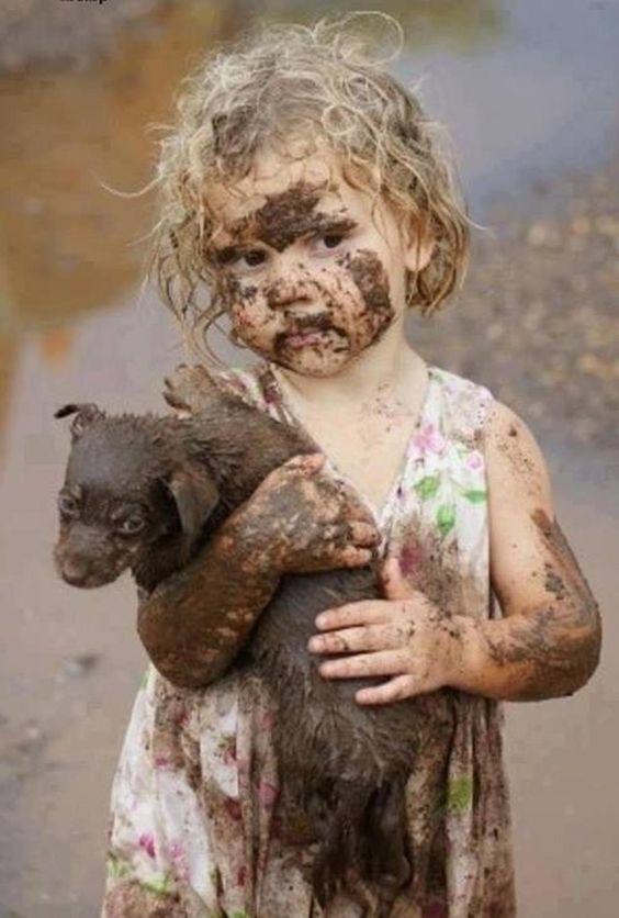 "An elderly man stops during his walk to talk to a little girl, who was playing in the mud and making mud pies next to the sidewalk. ""My word!"" he exclaimed, ""You're pretty dirty, aren't you?"" ""Yes sir, I am"" she replied. ""But, I'm even prettier clean."""
