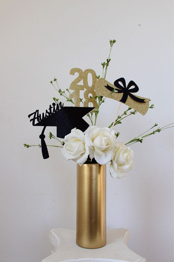 Copied These Ideas And Combined Them To Make My Own Rustic: 12 Graduation Party Centerpieces Perfect For Your