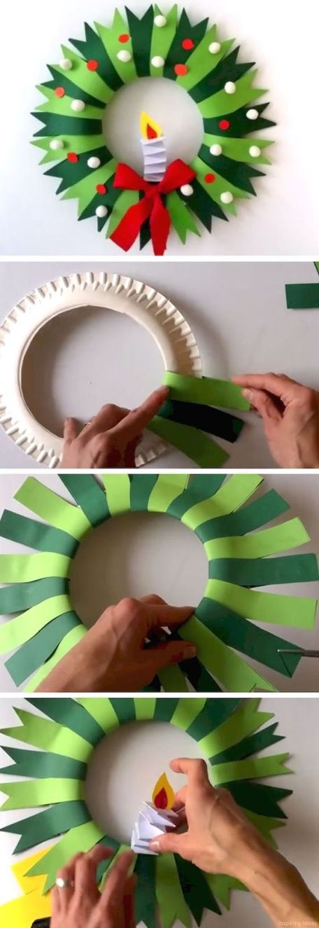 Simple diy christmas wreath and more decorations to make on a budget. Easy enough for children to make. (diy arts and crafts simple)
