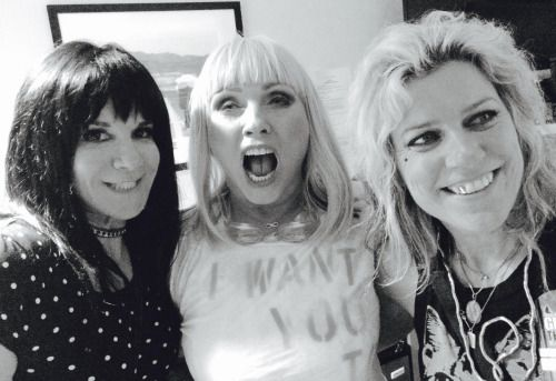 Dee Plakas and Donita Sparks with Debbie Harry of Blondie