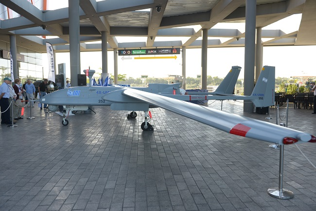 IAI Heron UAV on display