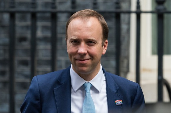 LONDON, UNITED KINGDOM - SEPTEMBER 16, 2020: Secretary of State for Health and Social Care Matt Hancock leaves 10 Downing Street in central London on 16 September, 2020 in London, England.- PHOTOGRAPH BY Wiktor Szymanowicz / Barcroft Studios / Future Publishing (Photo credit should read Wiktor Szymanowicz/Barcroft Media via Getty Images)