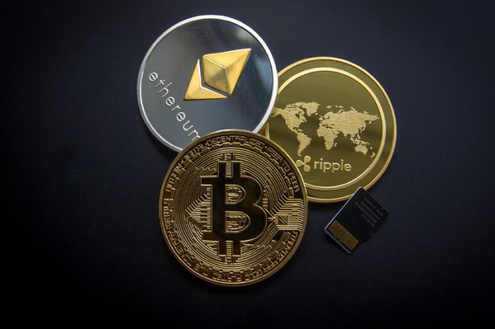 Cryptocurrency prices fell on Monday