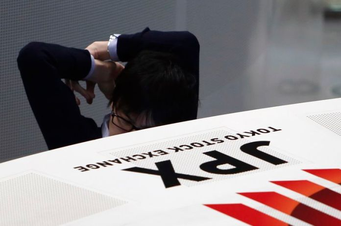 © Reuters.  Japan stocks lower at close of trade; Nikkei 225 down 0.59%