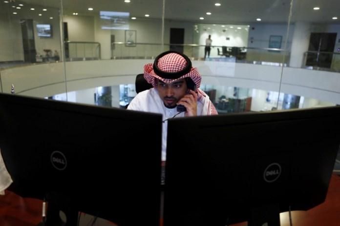 © Reuters. Saudi Arabia stocks lower at close of trade; Tadawul All Share down 1.36%
