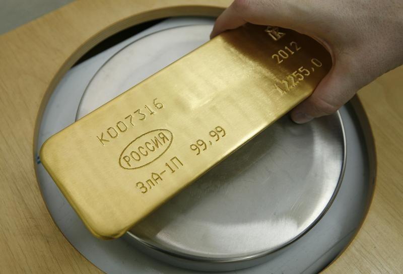 © Reuters.  I futures dell'Oro in ribasso durante la sessione U.S.A.