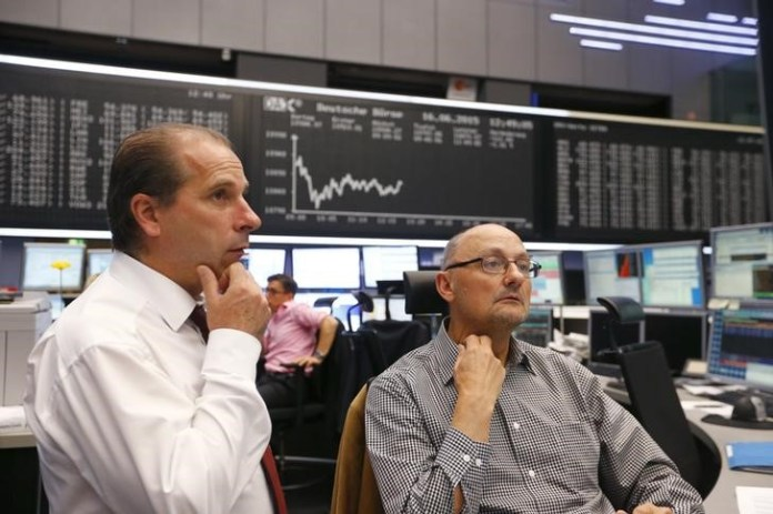 © Reuters. Germany stocks higher at close of trade; DAX up 0.57%