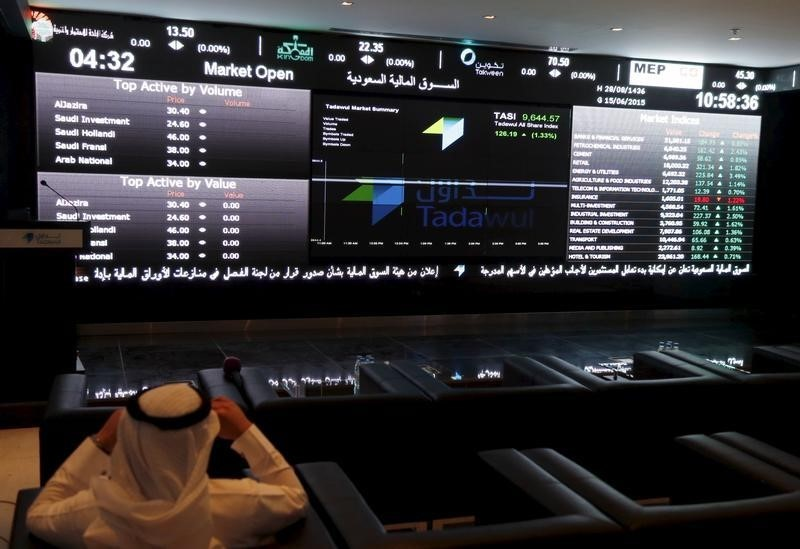 © Reuters.  Saudi Arabia stocks higher at close of trade; Tadawul All Share up 0.26%