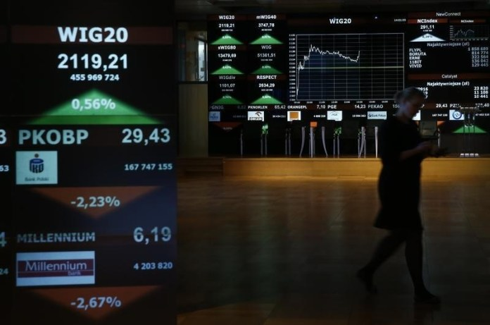 © Reuters. Poland stocks lower at close of trade; WIG30 down 0.04%