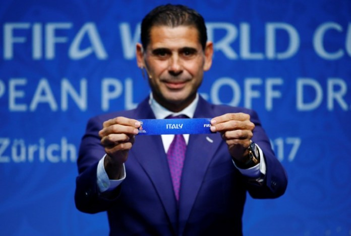 © Reuters. FIFA World Cup European Play-Off Draw