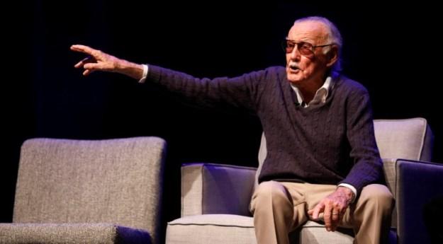 © Reuters. Marvel Comics co-creator Lee attends a tribute event