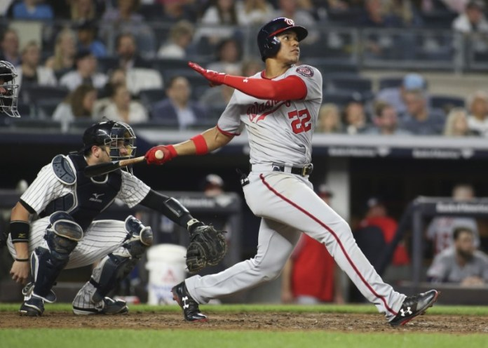 © Reuters. MLB: Washington Nationals at New York Yankees