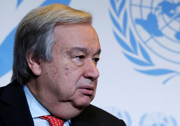 © Reuters. FILE PHOTO: U.N. Secretary-General Guterres delivers speech on disarmament and denuclearisation