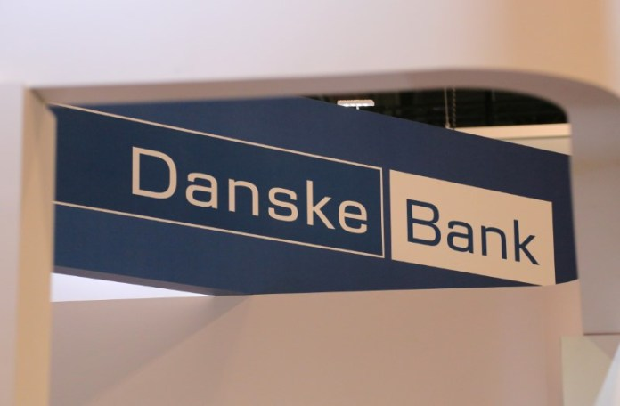 © Reuters. A logo for Denmark's Danske Bank is seen at the SIBOS banking and financial conference in Toronto
