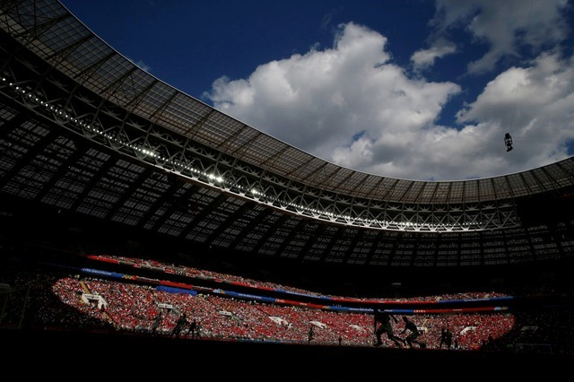 © Reuters. FILE PHOTO: Soccer Football - World Cup - Group B - Portugal vs Morocco - Luzhniki Stadium, Moscow, Russia - General view inside the stadium